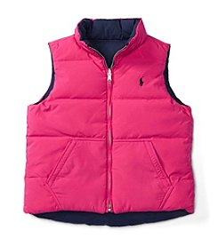 Polo Ralph Lauren® Girls' 2T-6X Reversible Vest