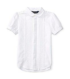 Polo Ralph Lauren® Girls' 2T-6X Short Sleeve Pleated Shirt