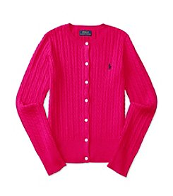 Polo Ralph Lauren® Girls' 2T-6X Cable Knit Cardigan