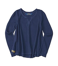 Polo Ralph Lauren® Girls' 2T-6X Long Sleeve Waffle Top