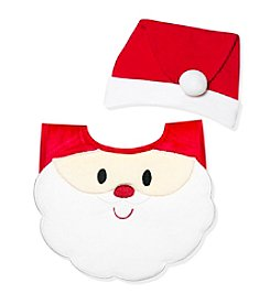 Cuddle Bear® Baby Santa Bib And Cap