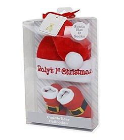Cuddle Bear® Baby Santa Hat and Socks