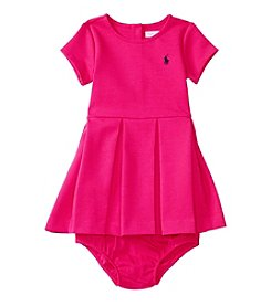 Ralph Lauren® Baby Girls' Pleated Ponte Dress