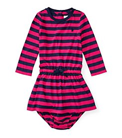 Ralph Lauren® Baby Girls' Long Sleeve Striped Dress