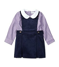 Ralph Lauren® Baby Girls' 2-Piece Peter Pan Shirt And Jumper Set