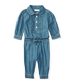 Ralph Lauren® Baby Girls' Lightweight Denim Coverall