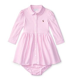 Ralph Lauren® Baby Girls' Knit Oxford Dress
