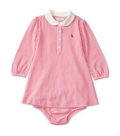 Ralph Lauren® Baby Girls' Striped Shirt Dress