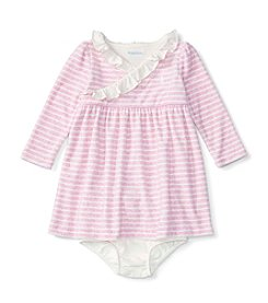 Ralph Lauren® Baby Girls' Striped Velour Dress