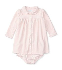 Ralph Lauren® Baby Girls' Long Sleeve Velour Dress