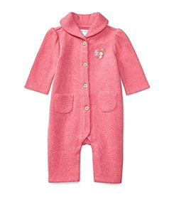 Ralph Lauren® Baby Girls' Shawl Collared Coverall