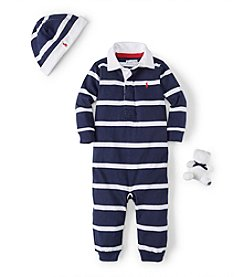 Ralph Lauren® Baby Boys' Striped Coverall Gift Set