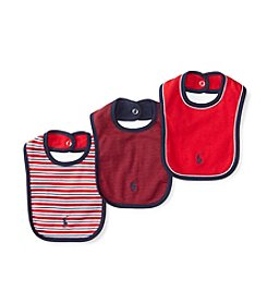 Ralph Lauren® Baby Boys 3-Pack Striped Bibs