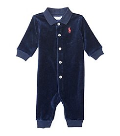 Ralph Lauren® Baby Boys' Velour Polo Coverall