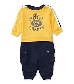 Ralph Lauren® Baby Boys 2-Piece Champs Tee And Joggers Set