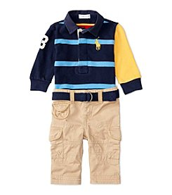 Ralph Lauren® Baby Boys' 2-Piece Rugby Shirt And Pants Set