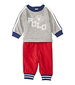 Ralph Lauren® Baby Boys' 2-Piece Graphic Tee And Joggers Set