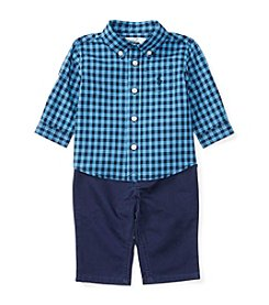 Ralph Lauren® Baby Boys 2-Piece Gingham Shirt And Pants Set