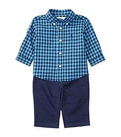 Ralph Lauren® Baby Boys 2-Piece Gingham Shirt And Pants Set