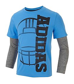 adidas® Boys' 2T-7 Long Sleeve Layered Helmet Tee