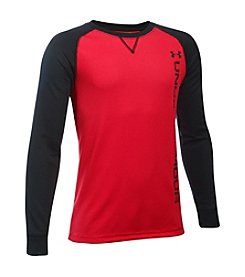 Under Armour® Boys' 8-20 Long Sleeve Waffle Crew Tee