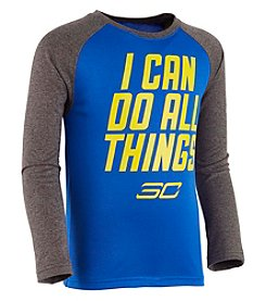 Under Armour® Boys' 4-7 Long Sleeve Stephen Curry Mantra Raglan Tee