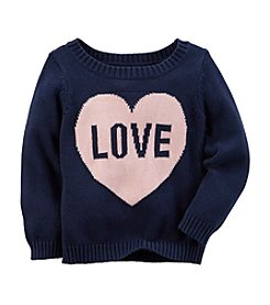 Carter's® Girls' 2T-8 Love Intarsia Sweater