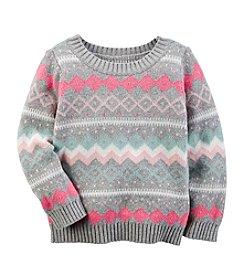 Carter's® Girls' 2T-8 Fair Isle Intarsia Sweater