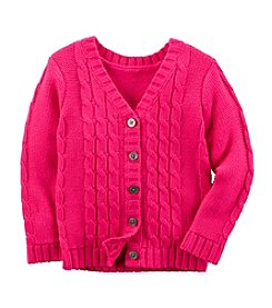 Carter's® Girls' 2T-8 Cable Knit Cardigan