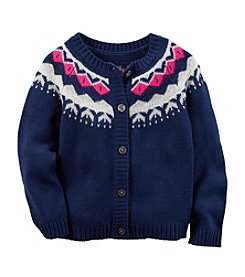 Carter's® Girls' 2T-8 Fair Isle Intarsia Cardigan
