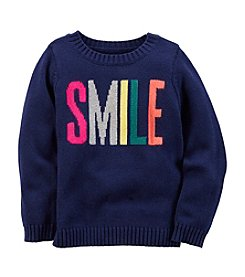 Carter's® Girls' 2T-8 Smile Intarsia Sweater