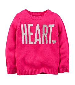 Carter's® Girls' 2T-8 Heart Intarsia Sweater