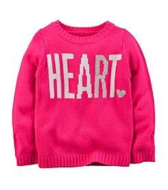 Carter's® Girls' 2T-8 Heart Intarsia Sweater
