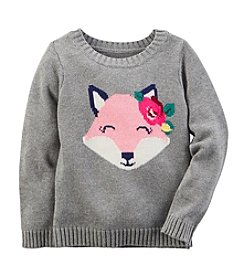 Carter's® Girls' 2T-8 Fox Intarsia Sweater