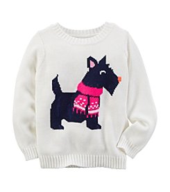 Carter's® Girls' 2T-8 Scotty Dog Intarsia Sweater