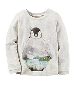 Carter's® Girls' 2T-8 Long Sleeve Penguin Tee