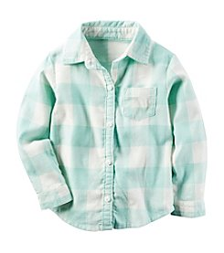 Carter's® Girls' 2T-8 Long Sleeve Plaid Shirt