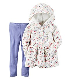 Carter's® Girls' 2T-4T 2-Piece Floral Hoodie and Leggings Set