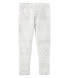 Carter's® Girls' 2T-8 Fair Isle Fleece Lined Leggings