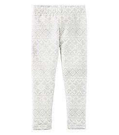 Carter's® Girls' 2T-8 Fair Isle Fleece Lined Leggings