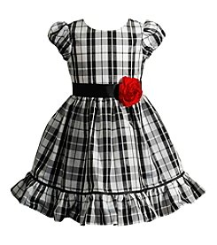 Sweet Heart Rose® Girls' 2T-6X Glitter Plaid Dress