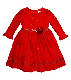 Sweet Heart Rose® Girls' 2T-6X Long Sleeve Sparkle Dress