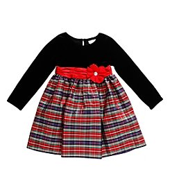 Sweet Heart Rose® Girls' 2T-6X Long Sleeve Plaid Dress