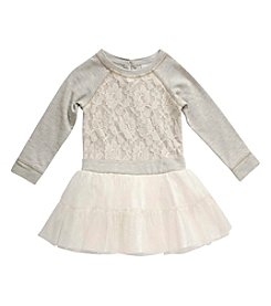 Sweet Heart Rose® Girls' 2T-6X Long Sleeve Lace Sweater Dress