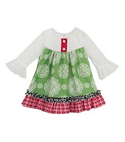 Rare Editions® Girls' 4-6X Daisy Medallion Dress