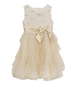 Rare Editions® Girls' 4-6X Shimmer Cascade Dress