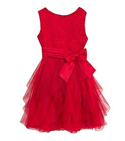 Rare Editions Girls' 7-16 Shimmer Cascade Dress