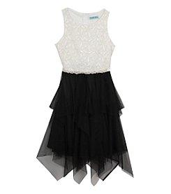 Rare Editions® Girls' 7-16 Jewel Belted Cascade Dress