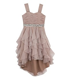 Rare Editions® Girls' 7-16 Shimmer Cascade Hi-Lo Dress