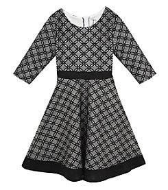 Rare Editions® Girls' 7-16 Long Sleeve Bonded Lace Dress
